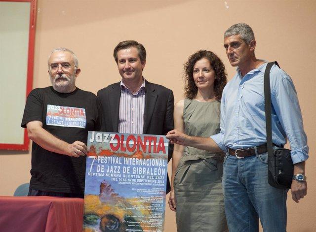 Presentación del festival 'JazzOlontia' de Gibraleón (Huelva).