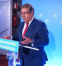 Juan Ignacio Zoido, hoy tras la Ejecutiva Regional del PP-A