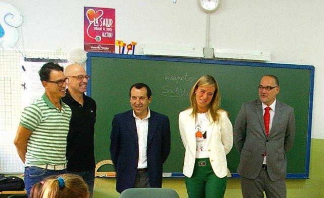 Alba y Ruiz Espejo en el acto de inauguración del curso