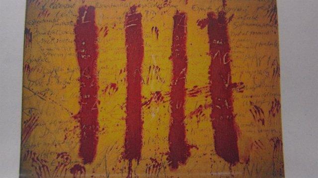 Imagend de la Diada 2012 de un cuadro de Antoni Tàpies, 'El espíritu catalán'
