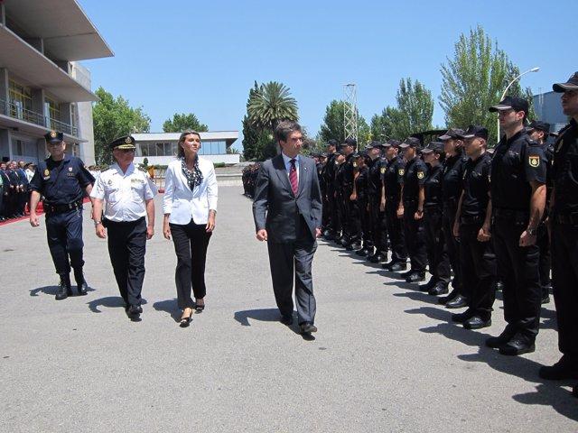 Dtor Gral De La Policía Nacional I.Cosidó, Y La Delegada Del Gobierno L. De Luna