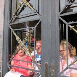 Representantes De Sindicatos Sanitarios Encerrados En El Sespa