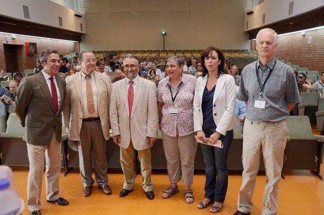 Ceballos entre los miembros del comité científico organizador del congreso