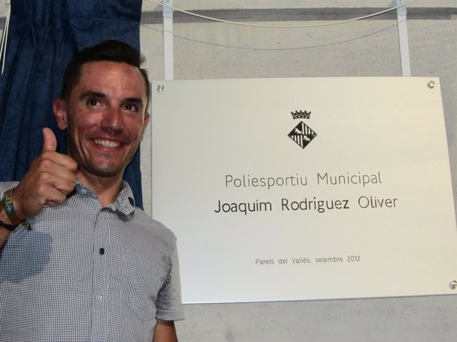 Purito Rodríguez homenaje pabellón Parets del Vallès