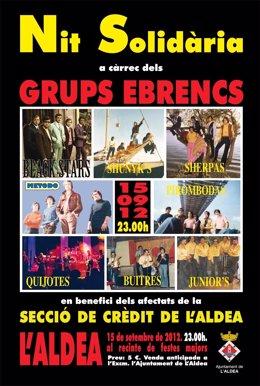 Cartel Del Concierto Solidario En Favor De La Cooperativa De L'aldea