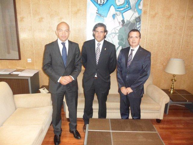 García-Legaz, Agustí Y Palma En El Despacho Del Secretario De Estado De Comercio