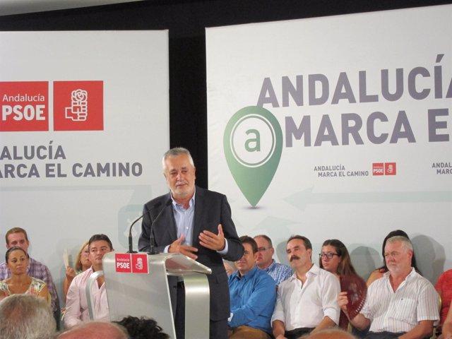 Griñán en su intervención en Almería.