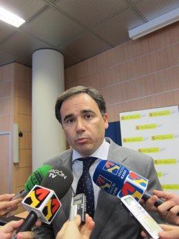 El presidente de la Confederación Hidrográfica del Ebro, Xavier de Pedro.
