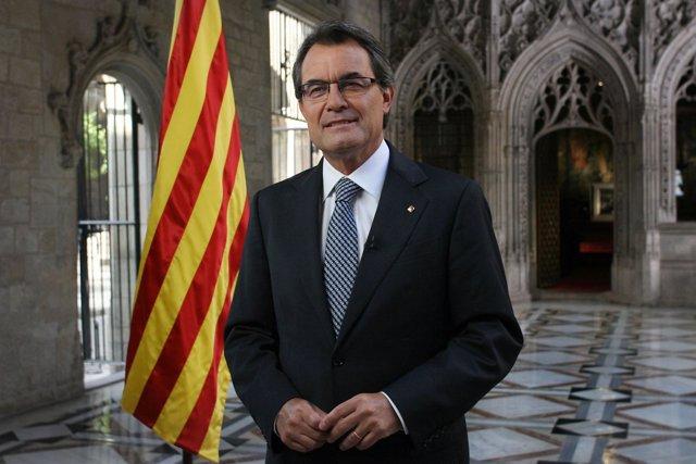 Discurso institucional de Artur Mas con motivo de la Diada de 2012