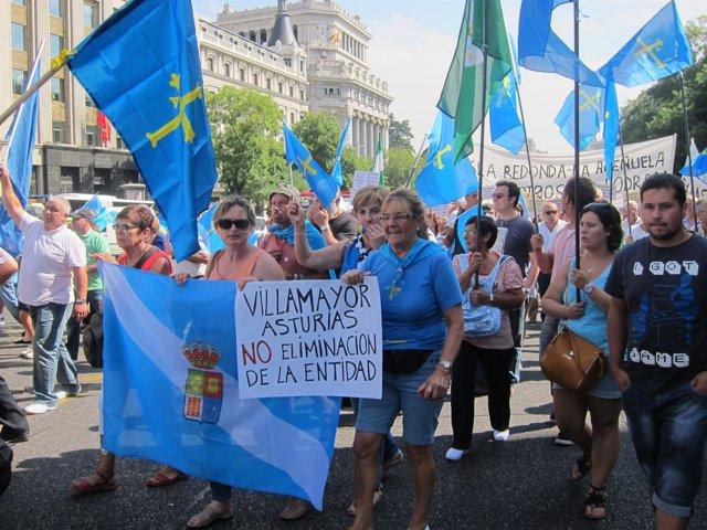 Manifestantes Asturianos En Madrid