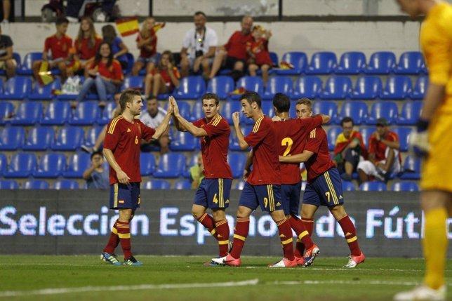 Sub-21 España Croacia 6-0 clasificación Europeo Israel