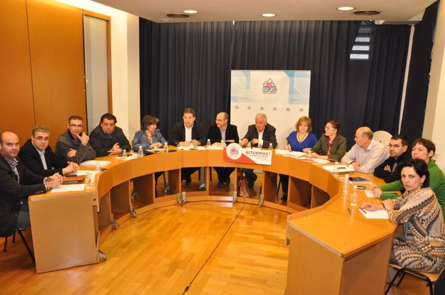 Executiva Del BNG 2012 Tras XIII Asamblea Del Bloque En Amio
