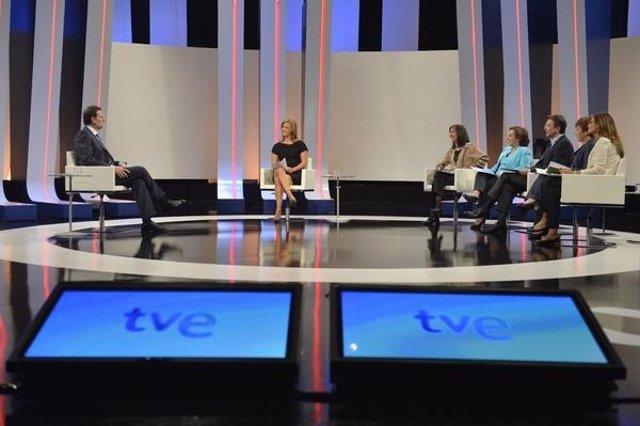 Mariano Rajoy, durante su entrevista en TVE
