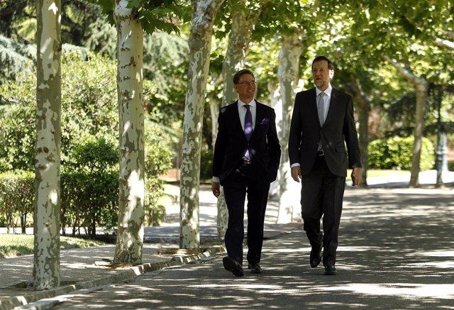 El presidente del Gobierno, Mariano Rajoy, y el primer ministro de Finlandia, Jy