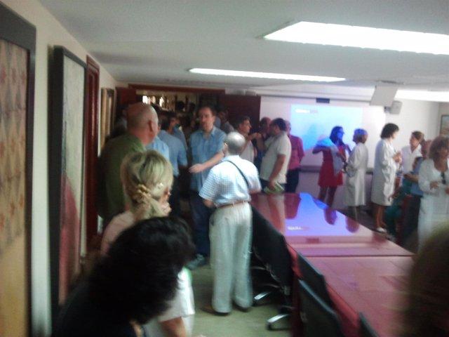 Delegados sindicales se encierran en el Hospital Virgen del Rocío