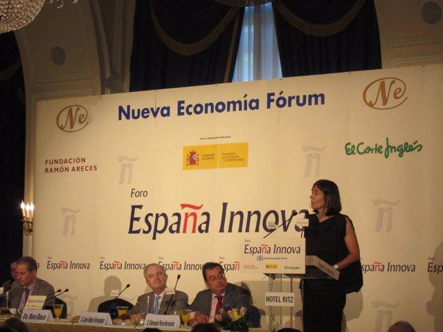María Blasco En El Desayuno De Nueva Economía Fórum