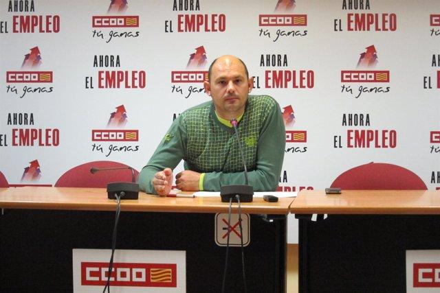 Juan A. Urdániz, secretario general de la FSS-CC.OO.-Aragón