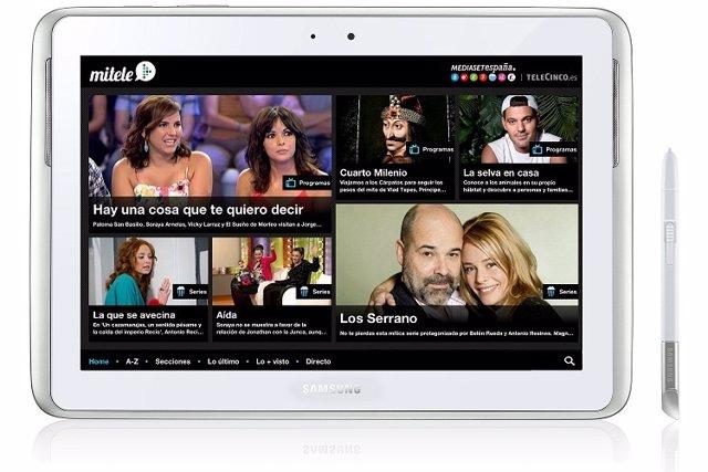 La app de Mitele del grupo Mediaset llega a Samsung Apps