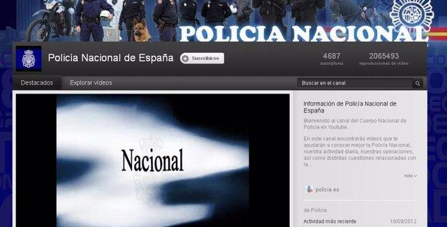 Canal De La Policía Nacional En Youtube