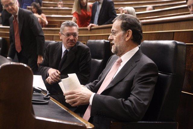 Mariano Rajoy y Alberto Ruiz Gallardón