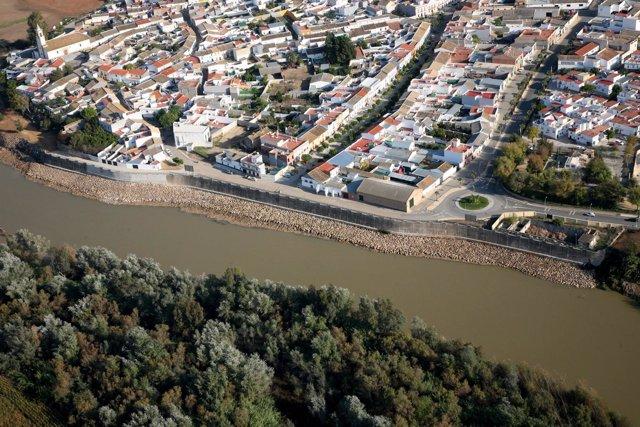 Obras Contra Inundaciones Al Paso Del Guadalquivir Por Alcolea