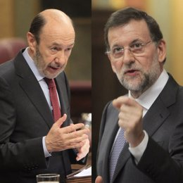 Montaje Entre Rubalcaba Y Mariano Rajoy