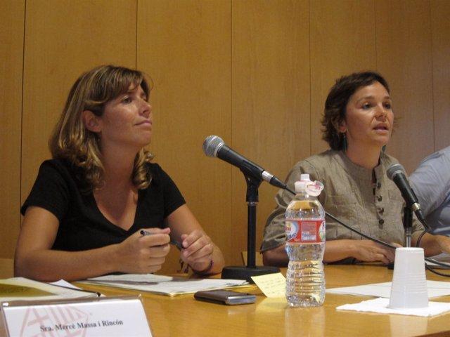 La Regidora De C.Vella, Mercè Homs (Ciu), I La Presidenta, Sara Jaurrieta (PSC)