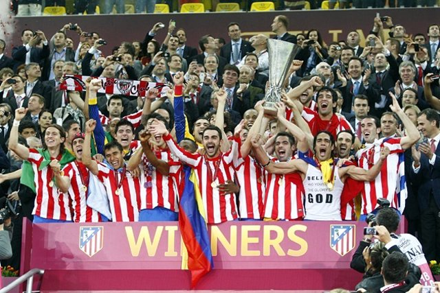 Celebracion Atletico Madrid Final Europa League
