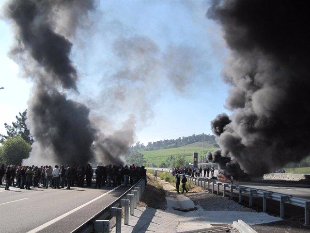 Protesta De Mineros Del Carbón
