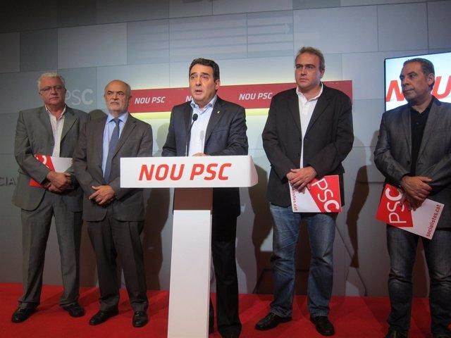 Rafael Roig, Miquel Aguilà, Manuel Bustos, Pere Albó Y Josep Masdeu, PSC