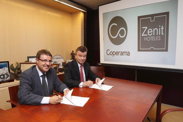 El CEO De Coperama, Pedro Martínez,  Y El Presidente De Zenit, Javier Catalán