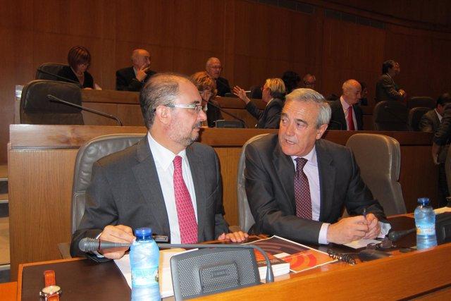 Javier Lambán junto a Javier Sada