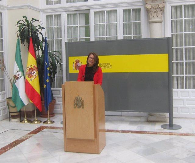 Carmen Crespo en rueda de prensa en Delegación