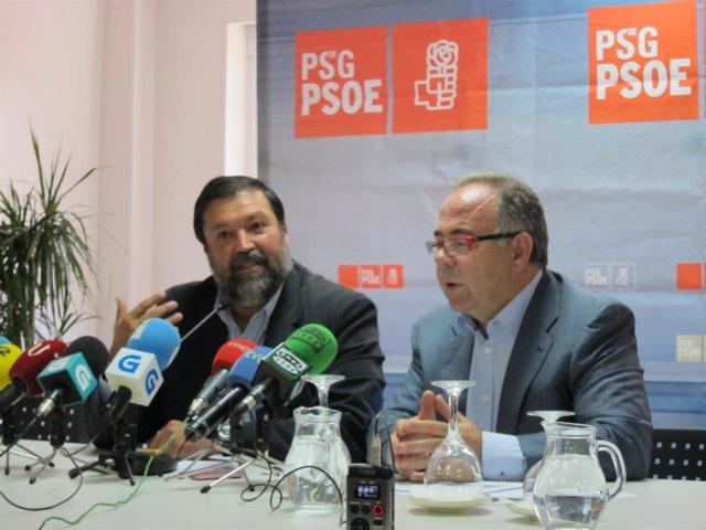 Francisco Caamaño y Xosé Sánchez Bugallo (PSOE)