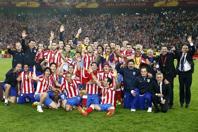 Celebracion Atletico Madrid Final Europa League