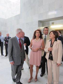 La consejera María Jesús Montero, en un foro organizado por Ideal