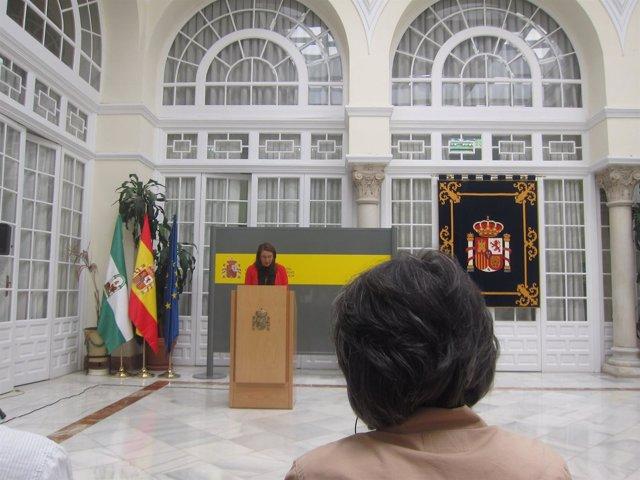 Rueda de prensa de Carmen Crespo en la sede de la Delegación