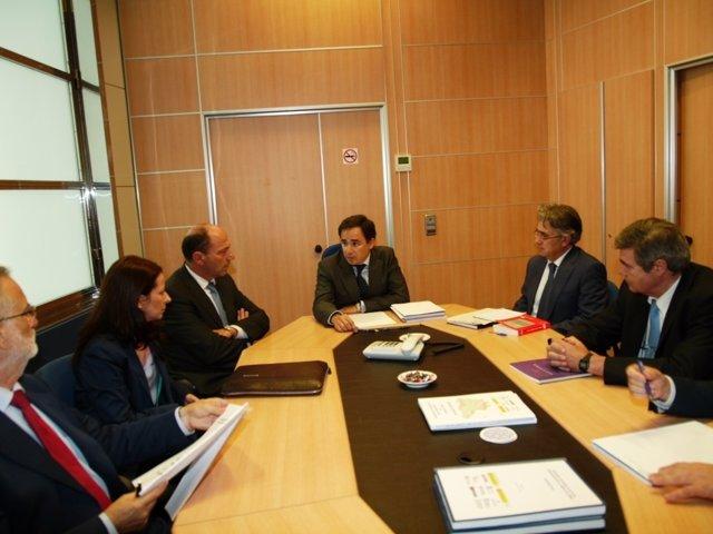 De Pedro en la reunión con representantes del sector energético