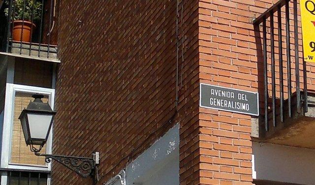 Avenida del Generalísimo en Boadilla