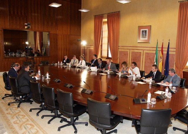 Imagen de una de las comparencias en la comisión de investigación