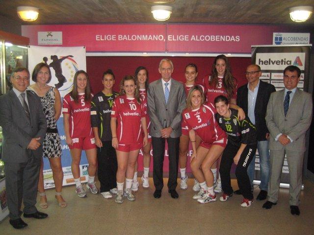 Equipo Helvetia Balonmano Alcobendas.