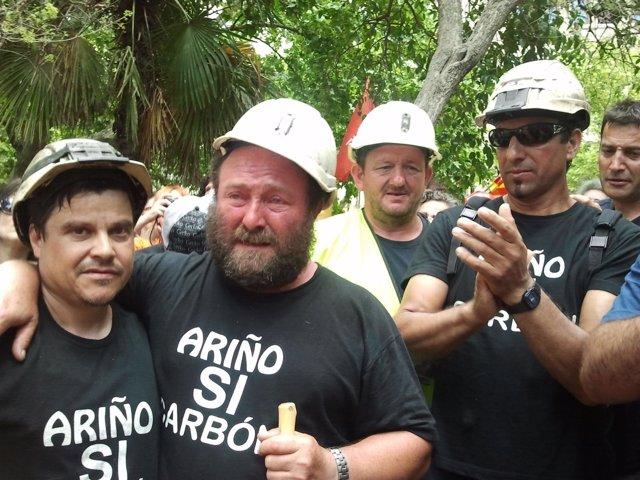 Mineros Aragoneses Participantes En La 'Marcha Negra'