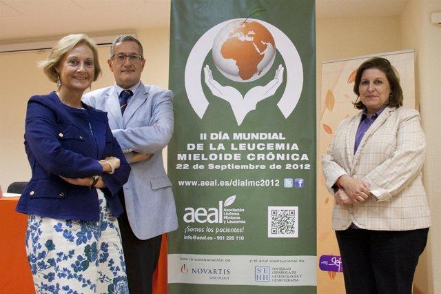 Los Expertos De AEAL Y De Novartis, Durante La Presentación De La Guía De LMC