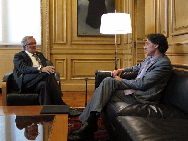 El Alcalde X.Trias Y J.Portabella (UpB)