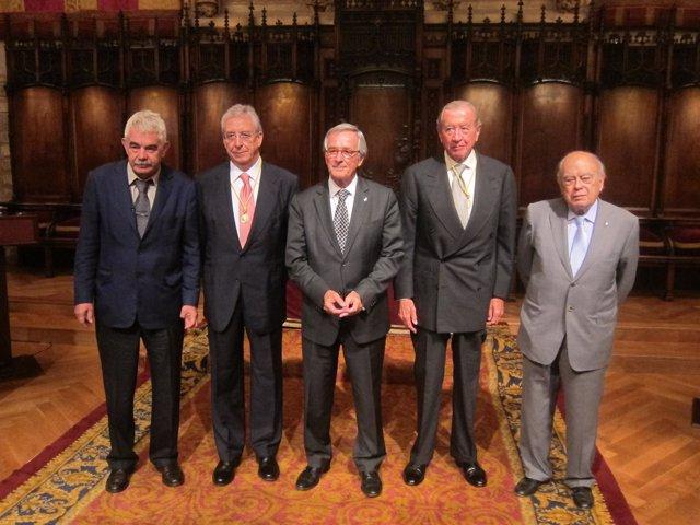 P.Maragall, J.M.Abad, X.Trias, L.Rodés Y J.Pujol