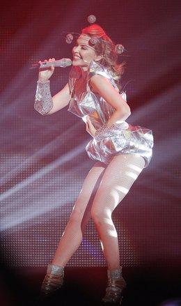 La cantante Kylie Minogue