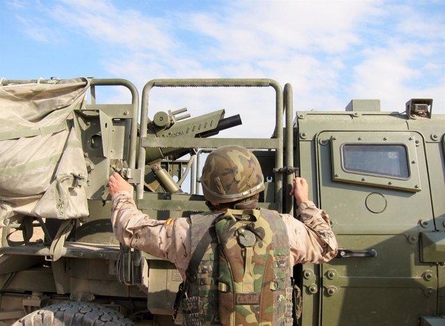 Uno de los nuevos morteros embarcados que serán desplegados en Afganistán