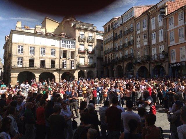 Manifestación apoyo a Francisco Rodríguez, Ourense Pokémon