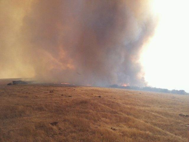 Incendio en Manzaneda