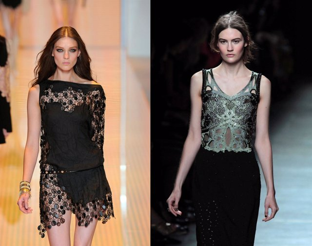 Montaje Versace y Bottega Veneta